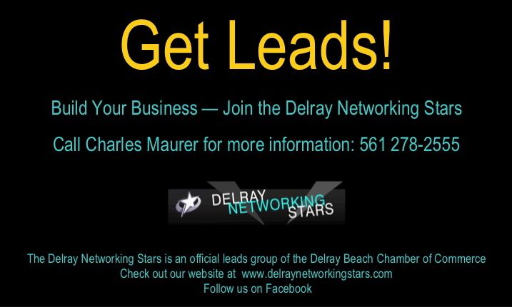 ad for delray networking stars