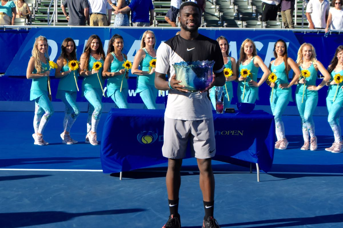 frances tiafoe with trophy