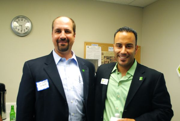 Joe Scondotto, left, and Marco Costa, both of TD Bank in Delray Beach.