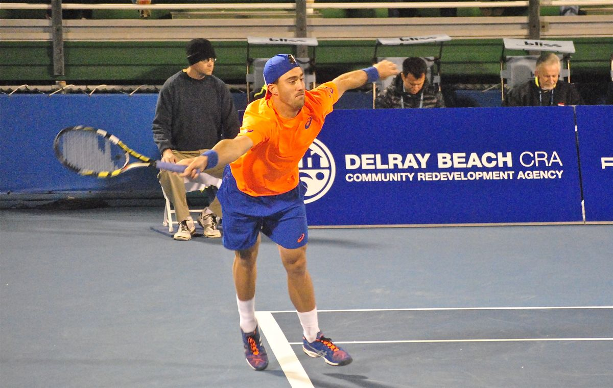 steve johnson delray tennis